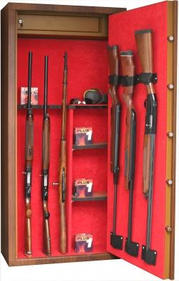 Coffre INFAC Sentinel L14 Bois 11 armes avec lunette + 3 dans la porte - coffre intérieur - étagères (90kg)