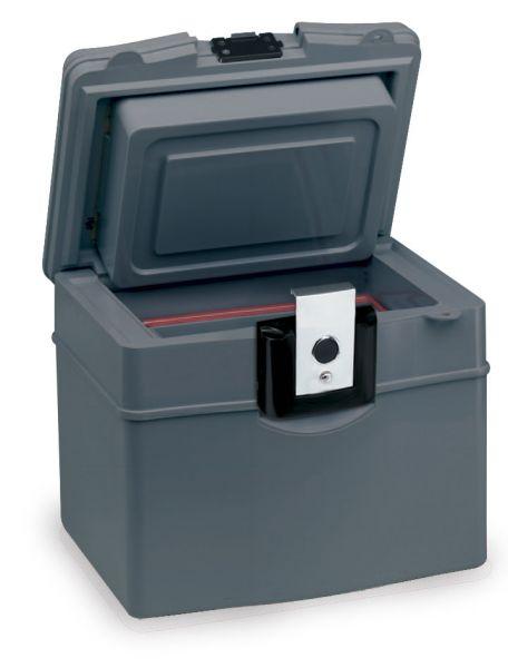2040 D Mallette ignifuge portable pour la protection des supports sensibles. Petit chariot avec roulettes.